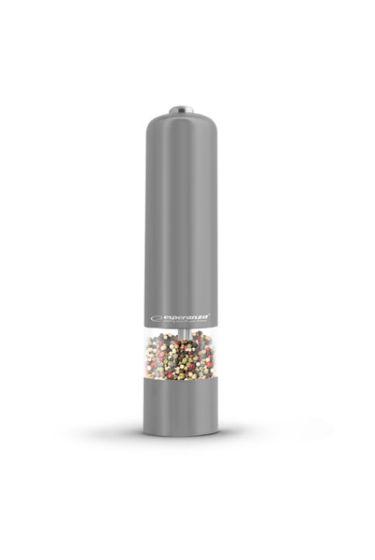 Baterijski LED mlinček za poper/sol Esp Labaro - siv