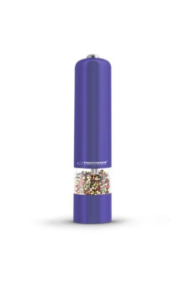 Baterijski LED mlinček za poper/sol Esp Labaro - vijoličast