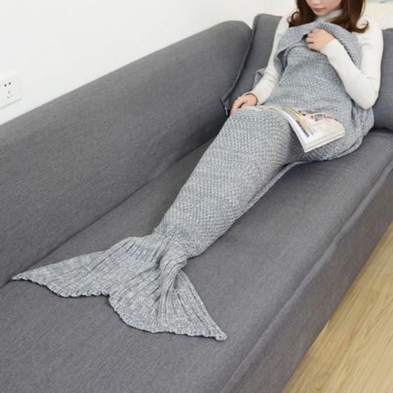 Pravljična odeja Morska deklica XXL - siva