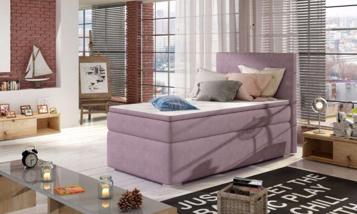 Oblazinjena postelja Rocky 90x200, roza - ZADNJI KOS