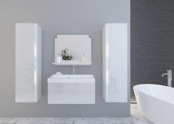 Kopalniško pohištvo BAHAMI II 60 - White Gloss