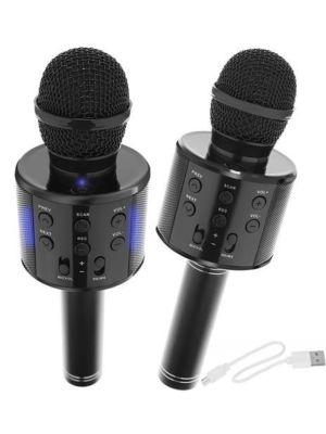 Mikrofon za karaoke z zvočnikom - črn