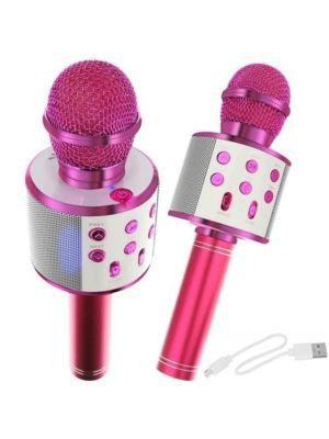Mikrofon za karaoke z zvočnikom - roza