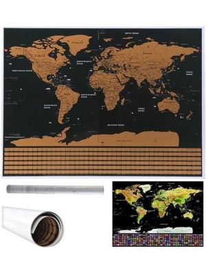 Zemljevid sveta - praskanka z zastavami