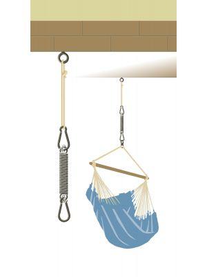 Pritrditveni set z vzmetjo za viseči stol, Seguro Confort