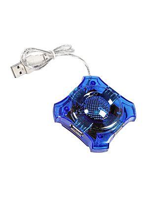 USB HUB 2.0 razdelilnik s 4 vhodi NEBULA blue