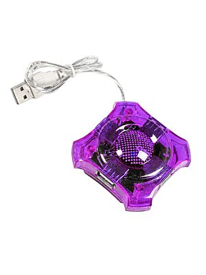 USB HUB 2.0 razdelilnik s 4 vhodi NEBULA violet
