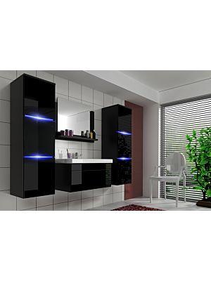 Lundy kopalniško pohištvo- črna visok sijaj