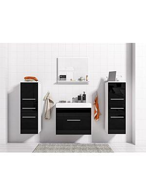 Mimi kopalniško pohištvo - Bela / črna visoki sijaj