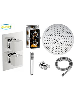 Podometni termostatski tuš set Alvito 1002 / 4 dimenzije