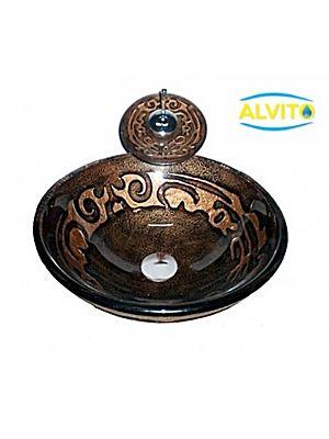 Kopalniški umivalnik Alvito Steklo 10NO32