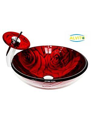 Kopalniški umivalnik Alvito Steklo HC6003
