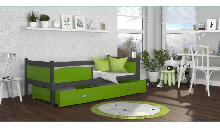 Otroška postelja s predalom TIMI 190 x 80 cm