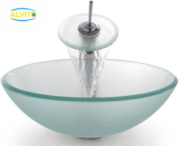 Kopalniški umivalnik Alvito Steklo HC6016 FROZEN