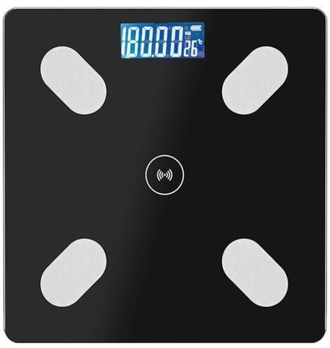 Digitalna kopalniška tehtnica Smart Bluetooth 180 kg - črna