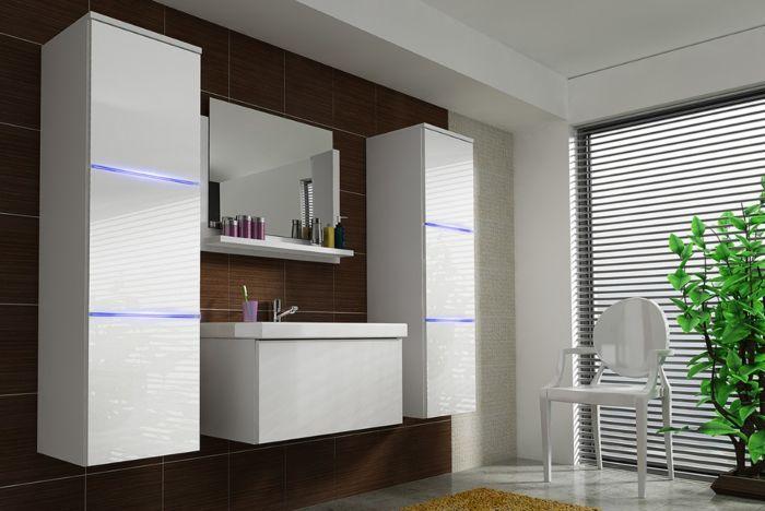 Lundy kopalniško pohištvo - bela visok sijaj