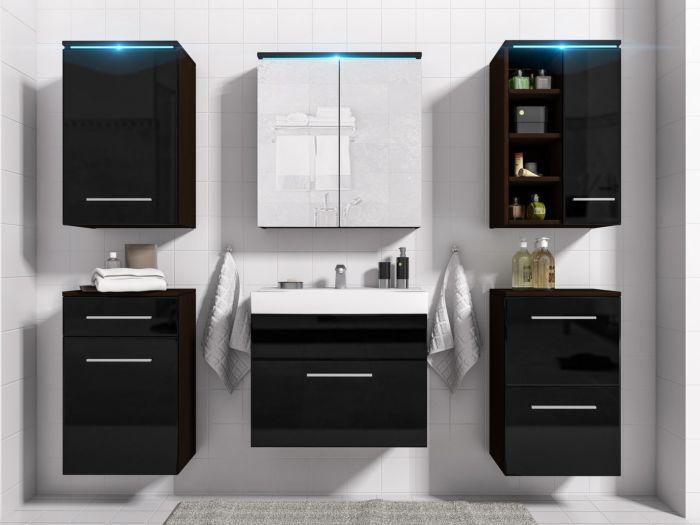 Maggie kopalniško pohištvo WENGE/BLACK - visoki sijaj