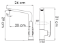 Enoročna kuhinjska armatura Alvito - 2620