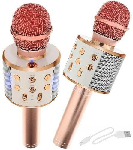 Mikrofon za karaoke z zvočnikom - svetlo roza
