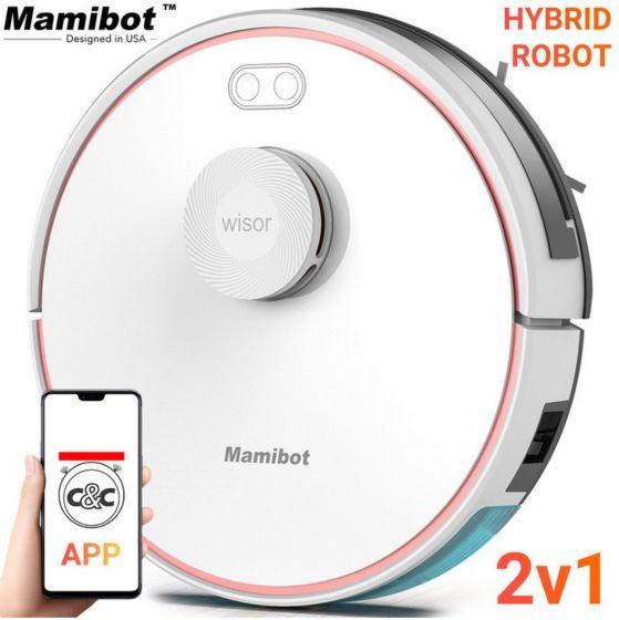 Robotski sesalnik in pomivalec MAMIBOT Wisor EXVAC880, Hibrid 2v1 z LSD 4.0 laser tehnologijo , APP